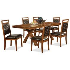 Dining Room Furniture  Vale 6Piece Dining Package  Seating Simple Dining Room Accent Pieces Design Decoration