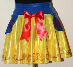 Snow White Glitter Running Skirt by RunPrincessRun on Etsy https://www.etsy.com/listing/220466509/snow-white-glitter-running-skirt