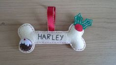 Personalised dog bone, christmas dog bone, dog christmas decor, bone tree…