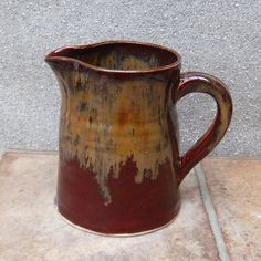 Jug or pitcher .......handmade stoneware pottery