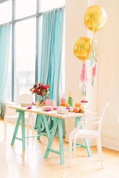 Pink, gold and aqua party inspiration   photo by Haley Sheffield   Read more - http://www.100layercake.com/blog/?p=67484