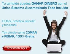 No pierdas más tiempo y comienza a ganar dinero ahora con el sistema que está revolucionando Internet... Regístrate gratis desde el siguiente enlace: http://gananciaz.com/ganardinero/santiflo