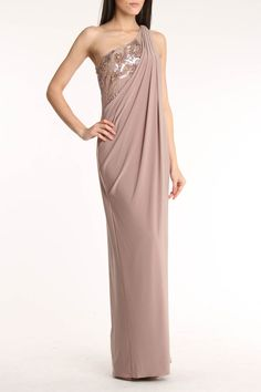 Embellished One Shoulder Gown - this is gorgeous and it looks comfy!! :)
