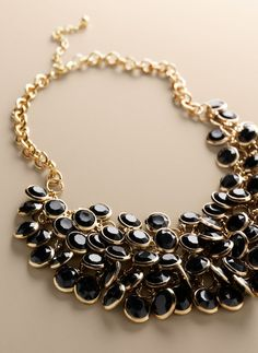 Talbots Disc bib necklace