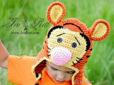 Handmade Crochet Safari Tiger Animal Hat    This adorable Tiger Hat is hand crocheted out of soft acrylic yarn... It fits comfortably around ears and will keep your little one warm and cozy...    This Hat will make a lovely gift or Photo prop.    Sizes : 3 months to Adult    Starting at $ 45.00 CAD