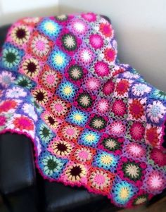 Granny Square Crochet Blanket for Nursery