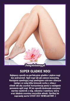 SEKRET PERFEKCYJNIE GŁADKICH NÓG - SUPER TRIK DLA KOBIET! :) Face Care, Body Care, Skin Care, Healthy Tips, Healthy Skin, Beauty Care, Diy Beauty, Beauty Habits, Beauty Tricks