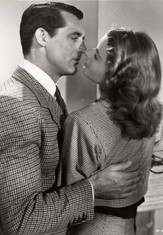 """Cary Grant and Ingrid Bergman in """"Notorious"""" directed by Alfred Hitchcock,1946"""