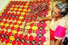 Beautifully decorated Tuvalu mat