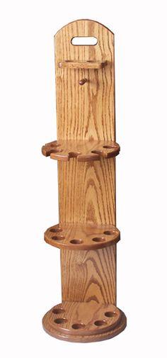 Oak Pool Cue Rack