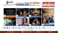 Cartelera del Festival Cultural Sinaloa 2016 #Mazatlán