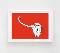 Lonely+Traveller++art+print+by+ilovedoodle+on+Etsy,+$30.00