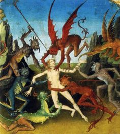 The Book of the Seven Mortal Sins, French 15th century manuscript; scanned from Gilles Néret's Devils (Taschen publication).