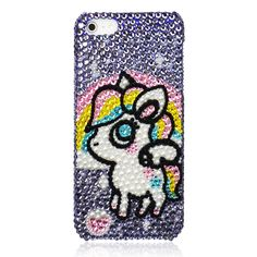 Fantasy Unicorn Crystal Bling Bling iPhone Case OMG