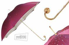 Pasotti Burgundy Swarovski Umbrella