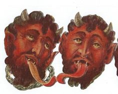 Antique Victorian RARE Devil Krampus Demon Scraps Christmas Paper Ephemera Collectible Lucifer Beelzebub Vintage Halloween Die Cuts 5 Total on Etsy, $125.00