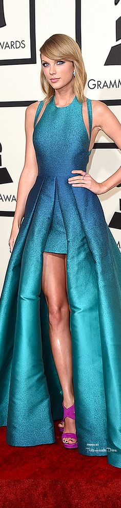 Taylor Swift in a custom Elie Saab gown @ the Grammy Awards 2015.
