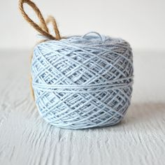 100 Yards Light Blue Solid Twine Flat Rate by WrapAndRevel on Etsy, $7.50
