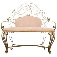 Buy Pier Luigi Colli Wrought Iron Bench (Adnet, Poillerat, Hermes, Drouet) at online store Wrought Iron Garden Furniture, Wrought Iron Bench, Wrought Iron Decor, Iron Furniture, French Furniture, Home Decor Furniture, Rustic Furniture, Furniture Design, Metal Room Divider