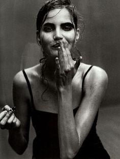 """Enchanting Mood"" photographed by...Peter Lindberg Vogue Italia 1997 Kiss"