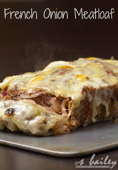 French Onion Meatloaf – (Free Recipe below) Loading. French Onion Meatloaf – (Free Recipe below) Healthy Meatloaf, Meatloaf Recipes, Meat Recipes, Cooking Recipes, Cooking Ribs, Cooking Pasta, Gourmet Cooking, Fun Recipes, Easy Cooking