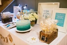 Wish Upon A Star Themed Baby Shower via Kara's Party Ideas KarasPartyIdeas.com #starparty #wishuponastar #starbabyshower (15)