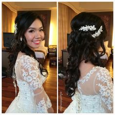 """Wedding Dinner make up & hairdo, congrats to my bride of the day: Joyce"""