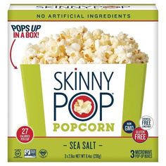 OMG I was so excited when I found this in my free Daisy Vox Box! I love their popcorn and now I can make it fresh when I'm watching movies! So convenient, lasts long, and mess free! Microwave Popcorn Bowls Skinny Pop Sea Salt 3 pack