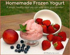 This homemade frozen yogurt recipe will be your new favorite treat! The fruit…
