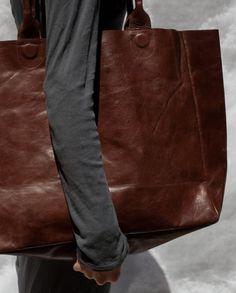 Handmade leather bag - Leather tote bag - Leather shoulder bag ...