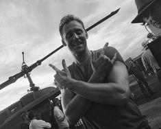 Tom Hiddleston on the set of #KongSkullIsland. Via Twitter.