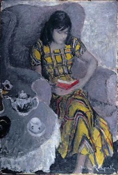 Anne Redpath (Scottish, 1895-1965) Eileen, c1949 Art, posters and prints of a woman or women reading repinned by www.AboutHarry.com