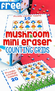 Free printable Mushroom Themed Counting Grids for Preschoolers through 1st Grade from Life Over C's. This incorporates 10, 20, and 100 in a super fun way! Teachers will love using this free resource to make counting easier for kids! #counting #countinggrids #countingmats #math #mathactivities Fall Preschool Activities, Counting Activities, Preschool Lesson Plans, Free Preschool, Educational Activities For Kids, Fun Learning, Free Activities, Sensory Activities, Learning Resources