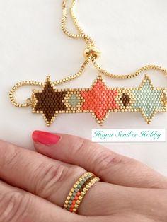 Miyuki, delica, peyote, bracelet, boncuk, bileklik, takı, jewelry
