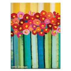Vintage Poppies by Anna Blatman Art Print on Canvas Artist Lane Size: 102 cm H x 76 cm W x cm D Framed Canvas Prints, Framed Wall Art, Canvas Frame, Canvas Size, Painting Prints, Art Prints, Painting Abstract, Acrylic Paintings, Contemporary Wall Art