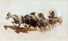 """The effort of the mules (Tribute to Frederic Remington) """"oil on canvas"""" 60 x 37 cm.  www.ortegaavila.com"""