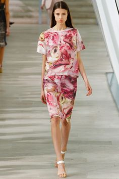 """Collection looked better than in seasons past, with strong prints."" Preen Spring 2013 RTW"