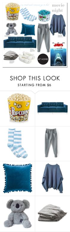 """""""i'm tired and i wanna go to bed"""" by farquadstarsqaud ❤ liked on Polyvore featuring Gus* Modern, HOT SOX, Ballard Designs, Crate and Barrel, Accessorize, Avenue and movieNight"""