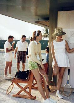 Tennis in the Bahamas, 1957. Photo: Slim Aarons.