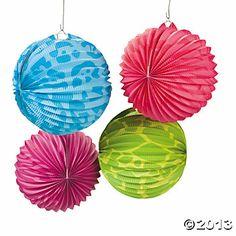 Neon Animal Print Party Lanterns  mimi loves lanterns