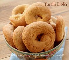 Taralli dolci al limone inzupposi e friabili | Biscotti senza ammoniaca il mio saper fare