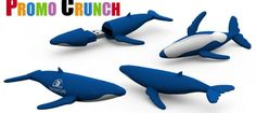 whale shape custom molded flash drives are perfect as a promotional giveaway