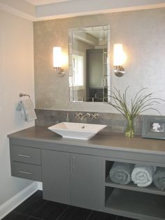 Grey bathroom cabinets#Repin By:Pinterest++ for iPad#