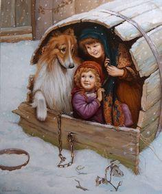 Спрятались - картина А.В.Маскаева