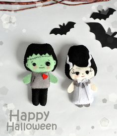 Hey, I found this really awesome Etsy listing at https://www.etsy.com/listing/246944249/cute-halloween-set-of-2-ornaments-felt