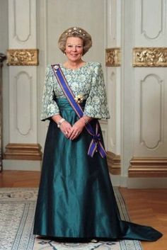 Queen Beatrix of the Netherlands on her 70th birthday in 2008