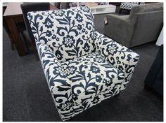 METRO MODERN INDIGO FLORAL ARM CHAIR Indigo Floral, Armchair, Decor, Furniture, Home, Modern, Home Decor, Furniture Auctions