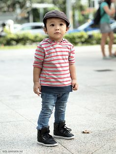 This baby is so cute!!! I love his baby outfit that looks like a grown up outfit :)