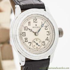 1940's Vintage Rolex Unicorn Stainless Steel Watch