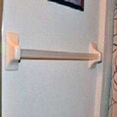 How to get a ceramic bathroom towel bar off the wall